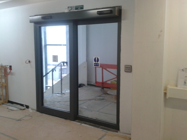 Automatic Fire Doors : Fire rated windows automatic doors